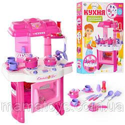 Детская игровая Кухня 008-26 Эффекты настоящей, Звук, свет, посуда
