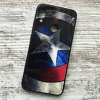 Зеркальный чехол Капитан Америка для Xiaomi Redmi Note 7