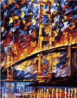 """Картина по номерам на холсте """"Мост Сан-франциско. Леонид Афремов"""" GX6388"""