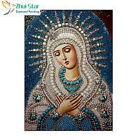 """Алмазная мозаика """"Мария"""", картина стразами 25*30см"""
