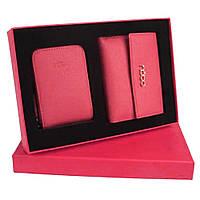 Женский подарочный набор Nobo NSET-W02-C003 розовый (кошелек и картхолдер)