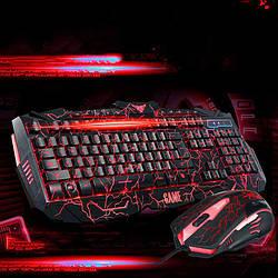 Стильна ігрова клавіатура V-100 і мишка з підсвічуванням