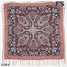 Павлопосадский шерстяной  платок  Рококо, фото 3