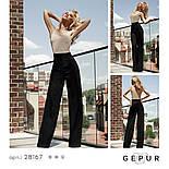 Эффектные женские брюки-палаццо с высокой посадкой черные, фото 5