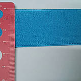 Резинка гладкая, мягкая, 35 мм. Цвет насыщенный голубой., фото 2
