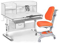 Комплект Evo-kids Evo-50 G Grey (арт. Evo-50 G + кресло Y-110 KY)/(стол+ящик+надстройка+кресло)/ белая столешн
