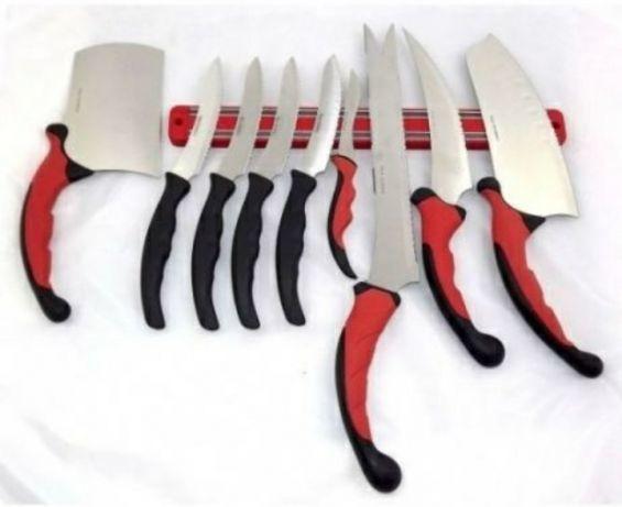 Превосходный набор кухонных ножей Contour Pro Knives + магнитная лента в подарок