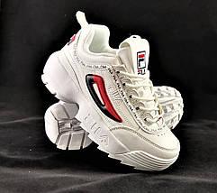 Кроссовки Fila Disruptor Белые (размеры: 38,39,40,41) Видео Обзор, фото 2