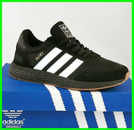 Кроссовки Мужские Adidas Iniki Runner Boost Чёрные Адидас (размеры: 41) Видео Обзор, фото 2