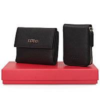 Женский подарочный набор Nobo NSET-W02-C020 черный (кошелек и картхолдер)
