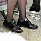 Туфли черные женские на шнуровке, натуральная кожа и замша, фото 3