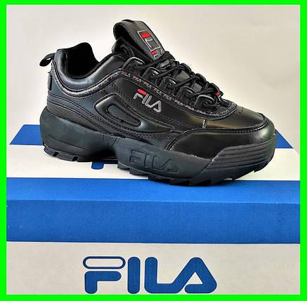 Кроссовки Fila Disruptor Чёрные (размеры: 37,38,39,40,41) Видео Обзор, фото 2