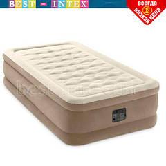 Надувная кровать Intex 64426 (99 х 191 х 46) Односпальная + встроенный электрический насос