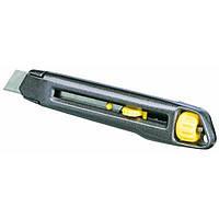 Нож монтажный Stanley выдвижное лезвие шириной 18мм, длина ножа 165мм (0-10-018)