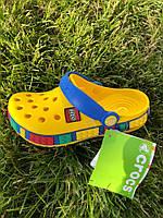 Кроксы детские желтые летние легкие Crocs LEGO Кроксы Лего