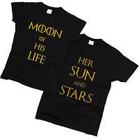 Футболки парные Солнце и Звезды 01