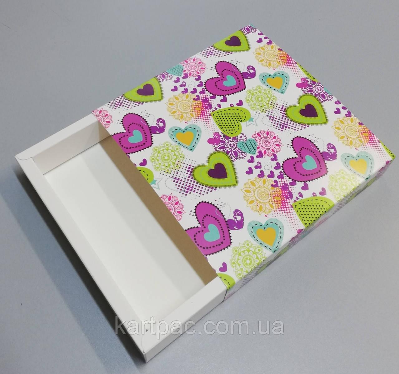Упаковка для кондитерських виробів 165*165*30 (святкова)