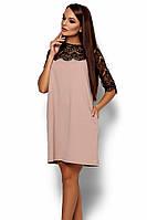 S, M, L / Коктейльне жіноче бежеве плаття