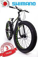 """Фэт Байк-Горный Велосипеды """"S800 HAMMER EXTRIME"""" Колёса 26''х4,0. Алюминиевая рама 17'' Япония Shimano. зеленый"""