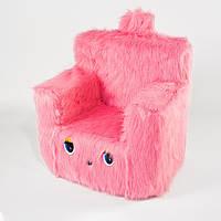 Детский Стульчик кресло меховой Kronos Toys Пушистик 43 см розовый (zol_6263)