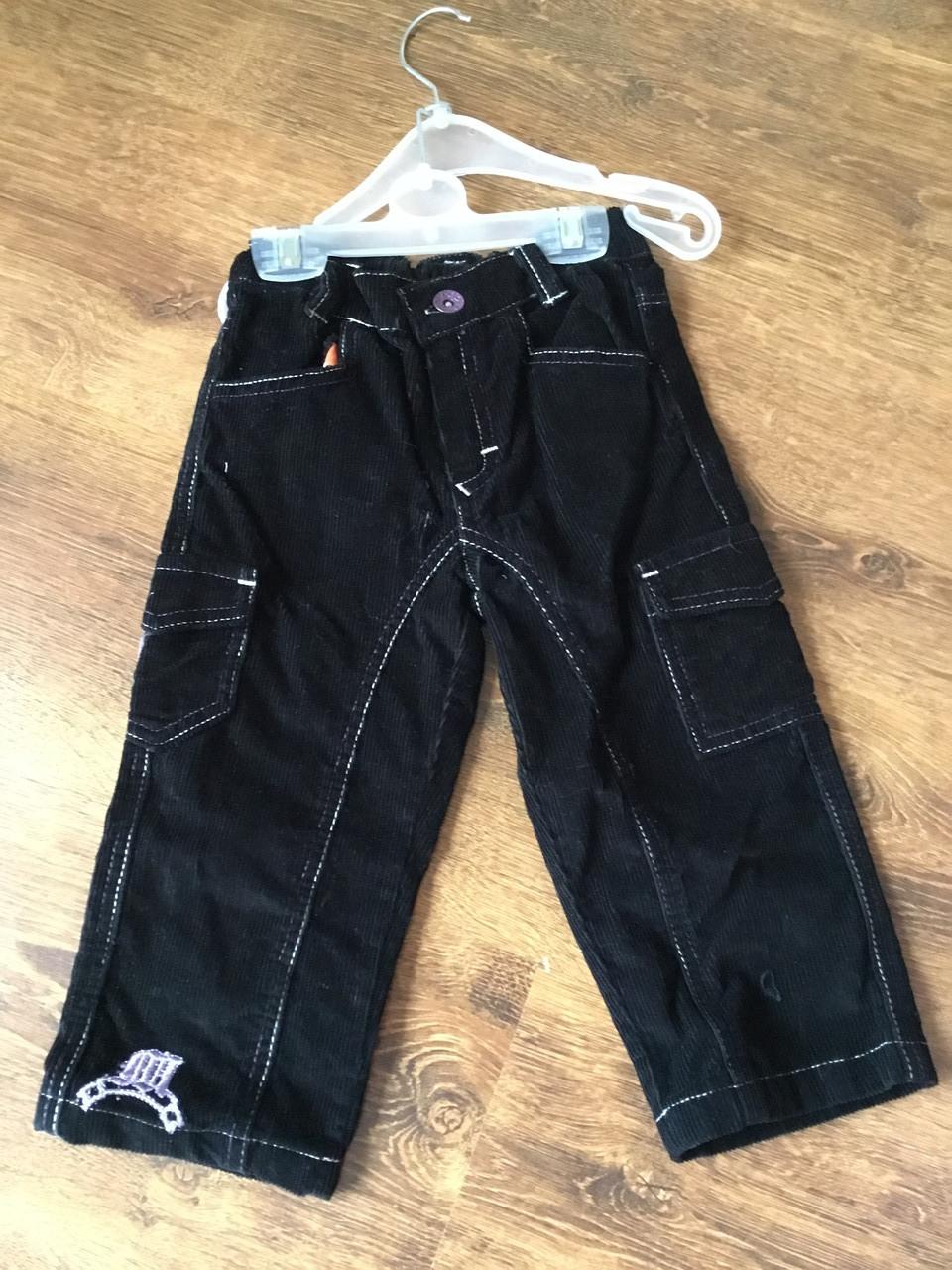 Черные брюки для мальчика с карманами