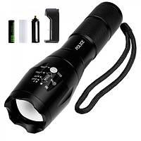 Тактический фонарик Bialong BL 1831 T6 50000W Pro фонарик 1000 Lumen Черный