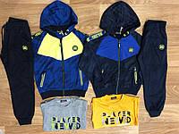 Трикотажный костюм 3 в 1 для мальчика оптом, S&D, 116-146 см,  № CH-5776, фото 1