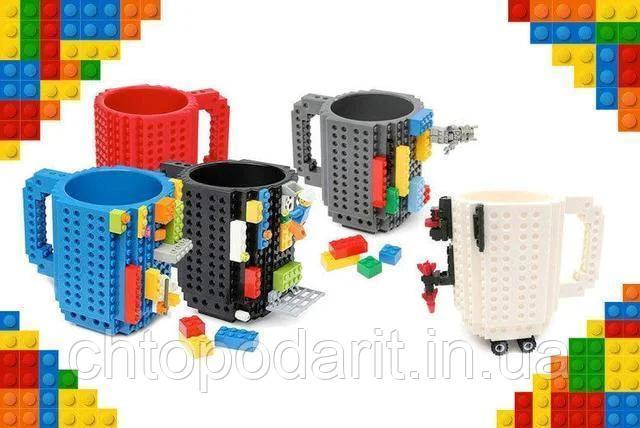 Кружка Лего Lego чашка конструктор 350мл BUILD-ON BRICK MUG Minecraft Код 13-0519