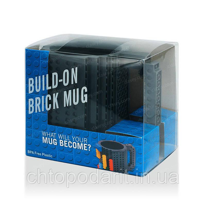 Кружка Лего Lego чашка конструктор 350мл BUILD-ON BRICK MUG Minecraft Код 13-0522