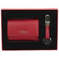 Женский подарочный набор Nobo NSET-W01-C005 красный (кошелек и брелок)