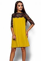 S, M, L / Коктейльне жіноче гірчичне плаття