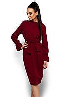 S, M, L, XL / Класичне вільне марсалове плаття