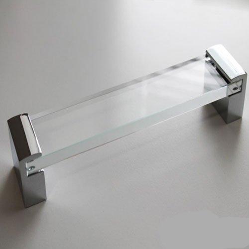 Ручка, хром підлогу.+скло, м/о 160мм / м/о 320мм Juliani