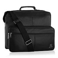 Чоловіча шкіряна сумка-портфель Betlewski 35 х 30 х 14 (BTG-12) - чорна, фото 1