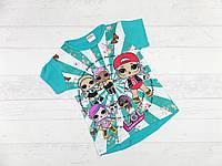 Детская футболка для девочек 6,7,8,9 лет (микс цветов)
