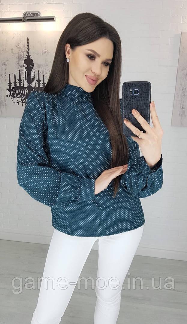 У25150/1 Стильная женская блуза в горох