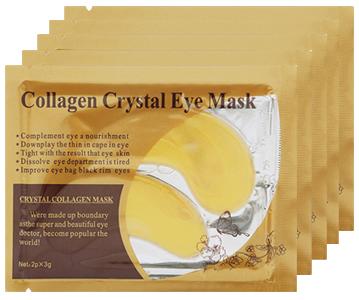 Патчи золотые под глаза c коллагеном Collagen Crystal Gold, 1 пара
