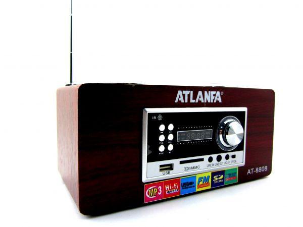 Portable speakers Радиоколонка AT-8808 эквалайзер линейный аудио-вход 3,5 мм minijack Пульт ДУ