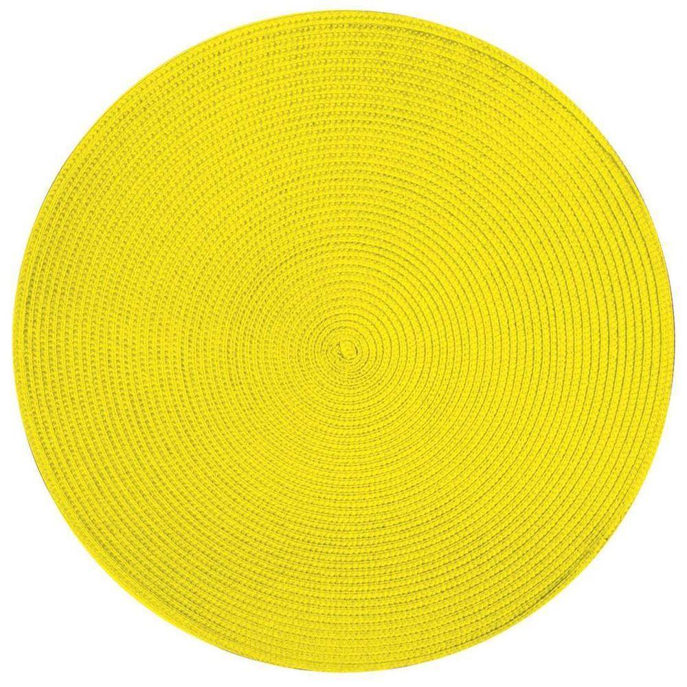 Подставка под горячее, круглая, желто-лимонный