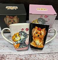 Набор из 2 чашек Коты и Собаки 300 мл 264-692-694