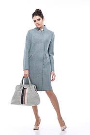 Модное демисезонное женское пальто со стойкой, размер 42-54