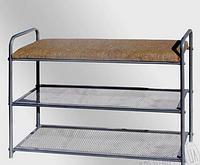 Полка-скамейка для обуви (мягкая лавка)
