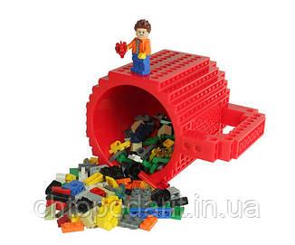Кружка Лего Lego чашка конструктор 350мл BUILD-ON BRICK MUG Minecraft Код 13-0580