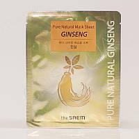 Тканевая маска с женьшенем THE SAEM Pure Natural Mask Sheet (Ginseng) - 20 мл