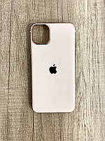 Чехол для iPhone 11 Pro силиконовый глянец с логотипом, Персиковый, фото 1