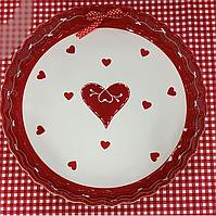 """Блюдо для запекания керамическое """"Любовь"""" 30 см 941-019. Подарок на День Влюбленных"""