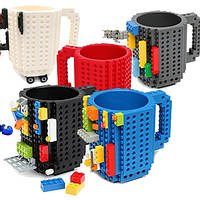 Кружка Лего Lego чашка конструктор 350мл BUILD-ON BRICK MUG Minecraft черная  Код 13-0506