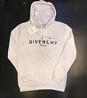 Толстовка мужская с капюшоном худи белая Givenchy