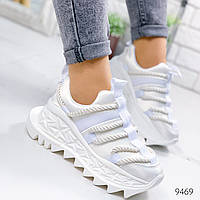 Кроссовки женские Leona белые 9469, фото 1