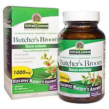 "Иглица колючая Nature's Answer ""Butcher's Broom"" 1000 мг (90 капсул)"